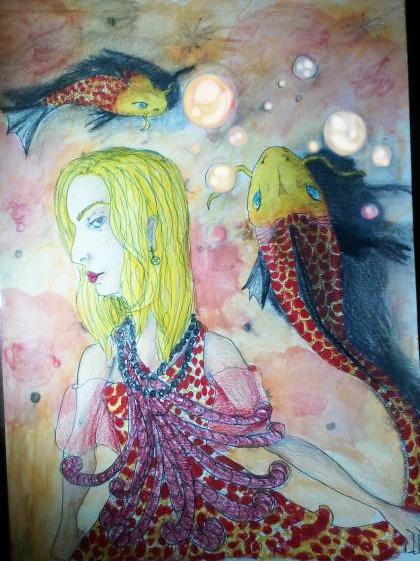 Red koi dress by elementixtaurus on deviantart for Koi fish dress