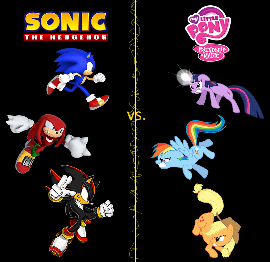 Sonic the Hedgehog vs. My Little Pony Universe by bvge