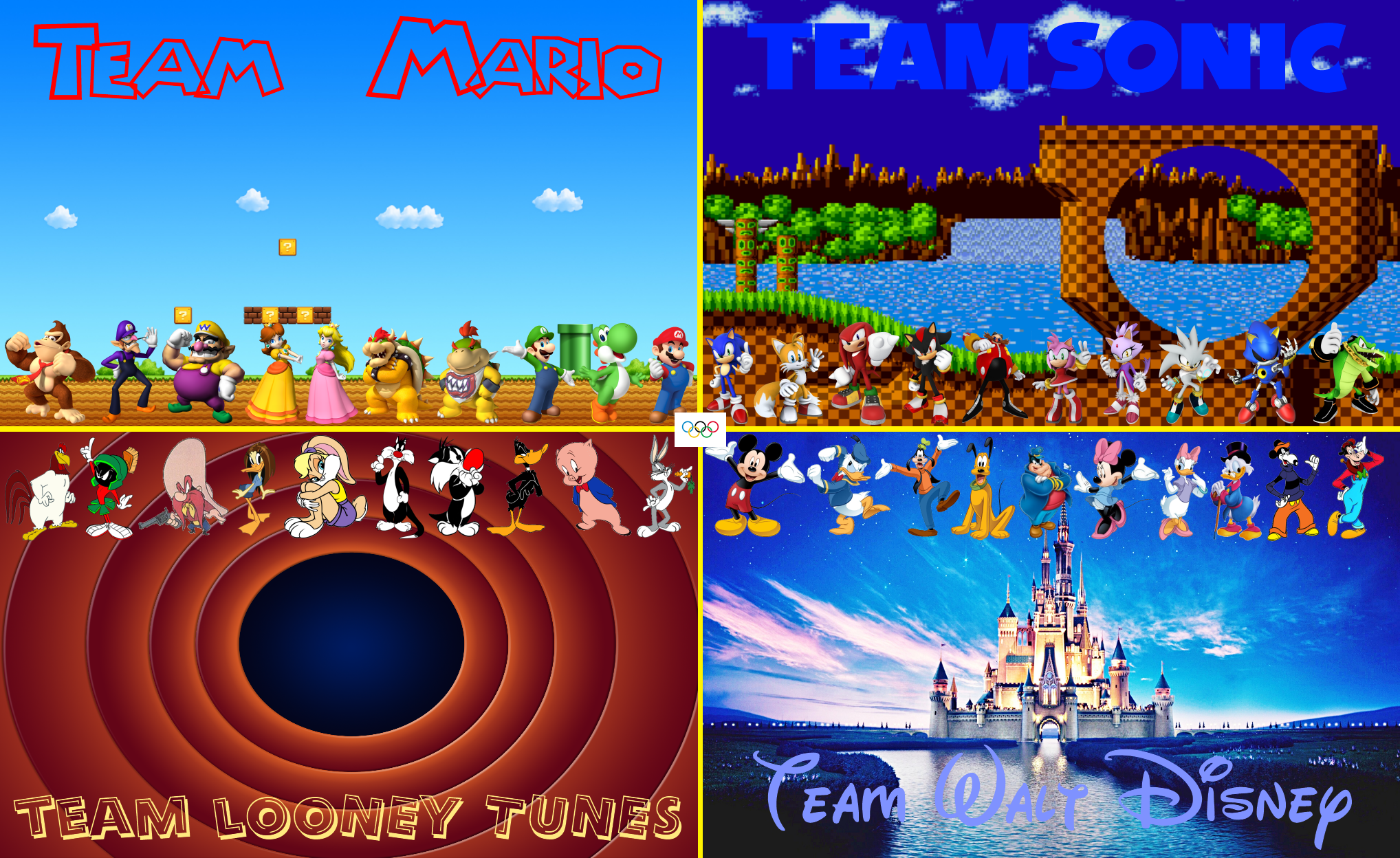 Mario Sonic Lt And Disney At The Olympics By Bvge On