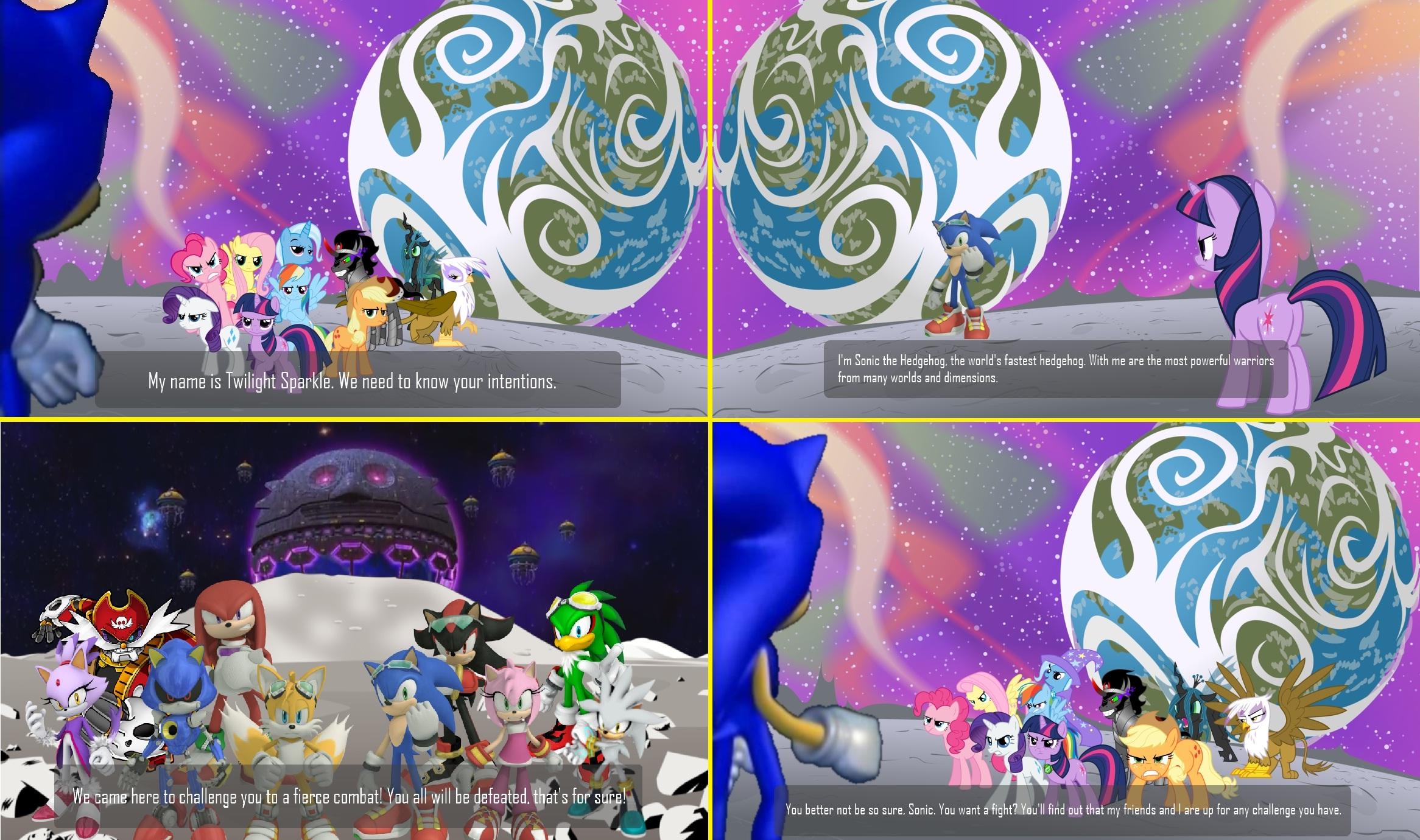Sonic The Hedgehog Vs My Little Pony By Bvge On Deviantart