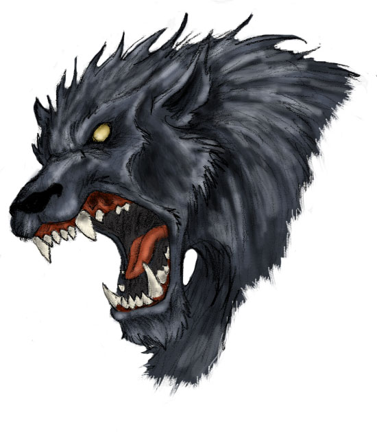 Werewolf Head by TriNeaX