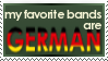 Favorite Bands Stamp by MacabreVampire