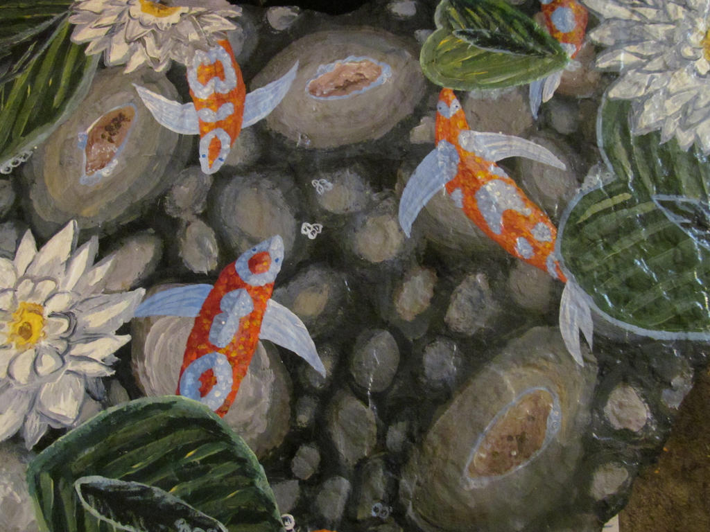 Koi Pond On Stone By Amandaferguson070707 On Deviantart