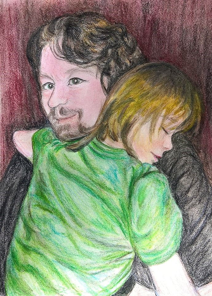 Safe In Daddys Arms by AmandaFerguson070707