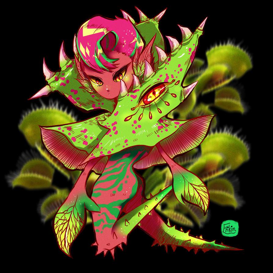 Monster Girl 01 - plant girl by w22986703