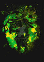 Skull Kid Zelda by MixiArt