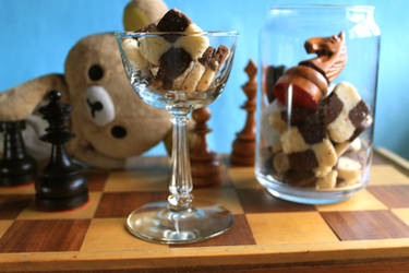 Checkboard Cookies with Rilakkuma 2