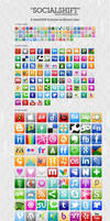 SocialShift Social icon set