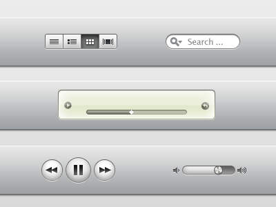 iTunes X elements PSD by emey87