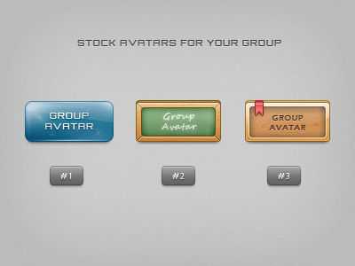 Stock group avatars