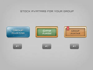 Stock group avatars