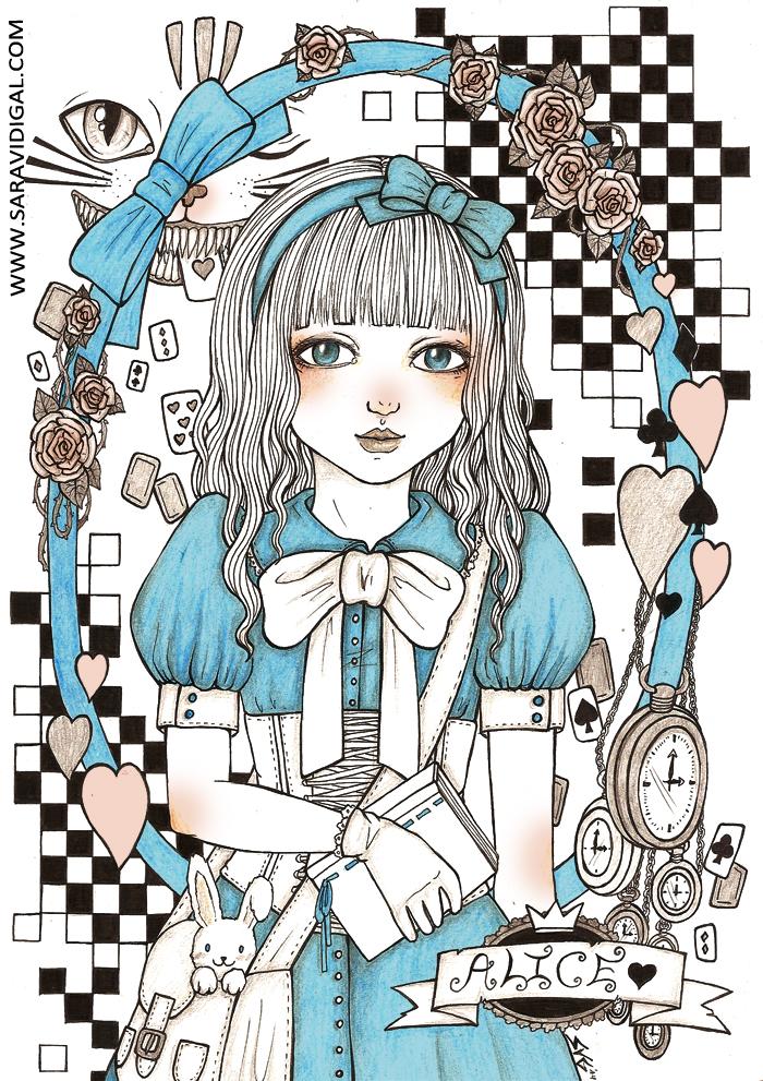 Alice in wonderland by evilshara
