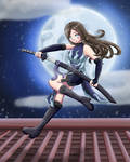 Michaela Ninja [ Speed Paint ] by Allyisi