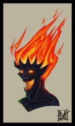 Fire Elemental By Daniel Atienza