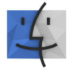 Low-Poly Finder Icon