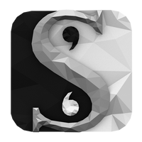 Low-poly Scrivener Icon by BenWurth