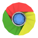 Low-poly Google Chrome Icon