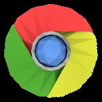 Low-poly Google Chrome Icon