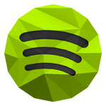 Low-poly Spotify Icon