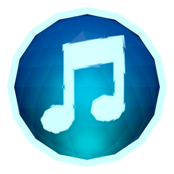 Low-poly iTunes Icon by BenWurth