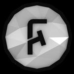 Low-poly FoldingText Icon