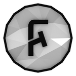 Low-poly FoldingText Icon