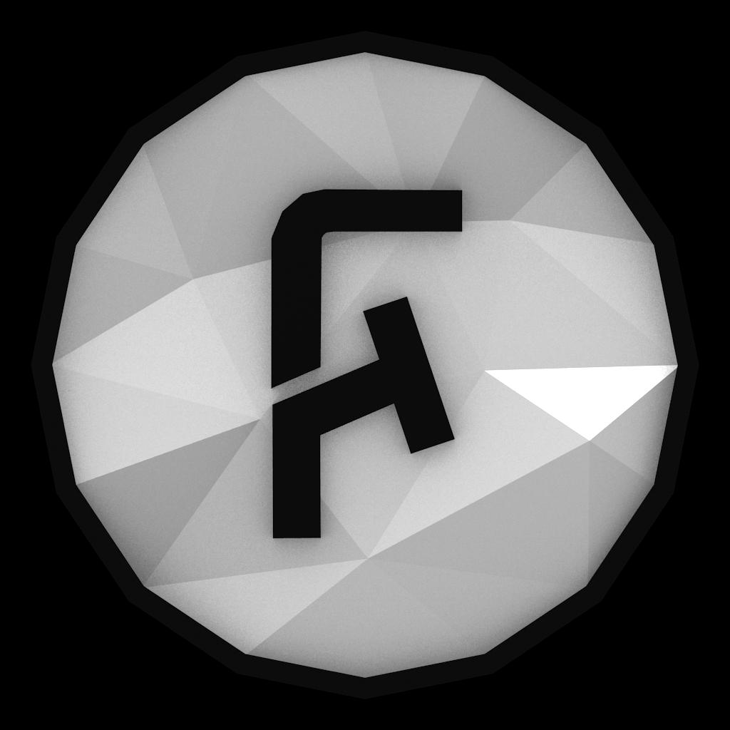 Low-poly FoldingText Icon by BenWurth