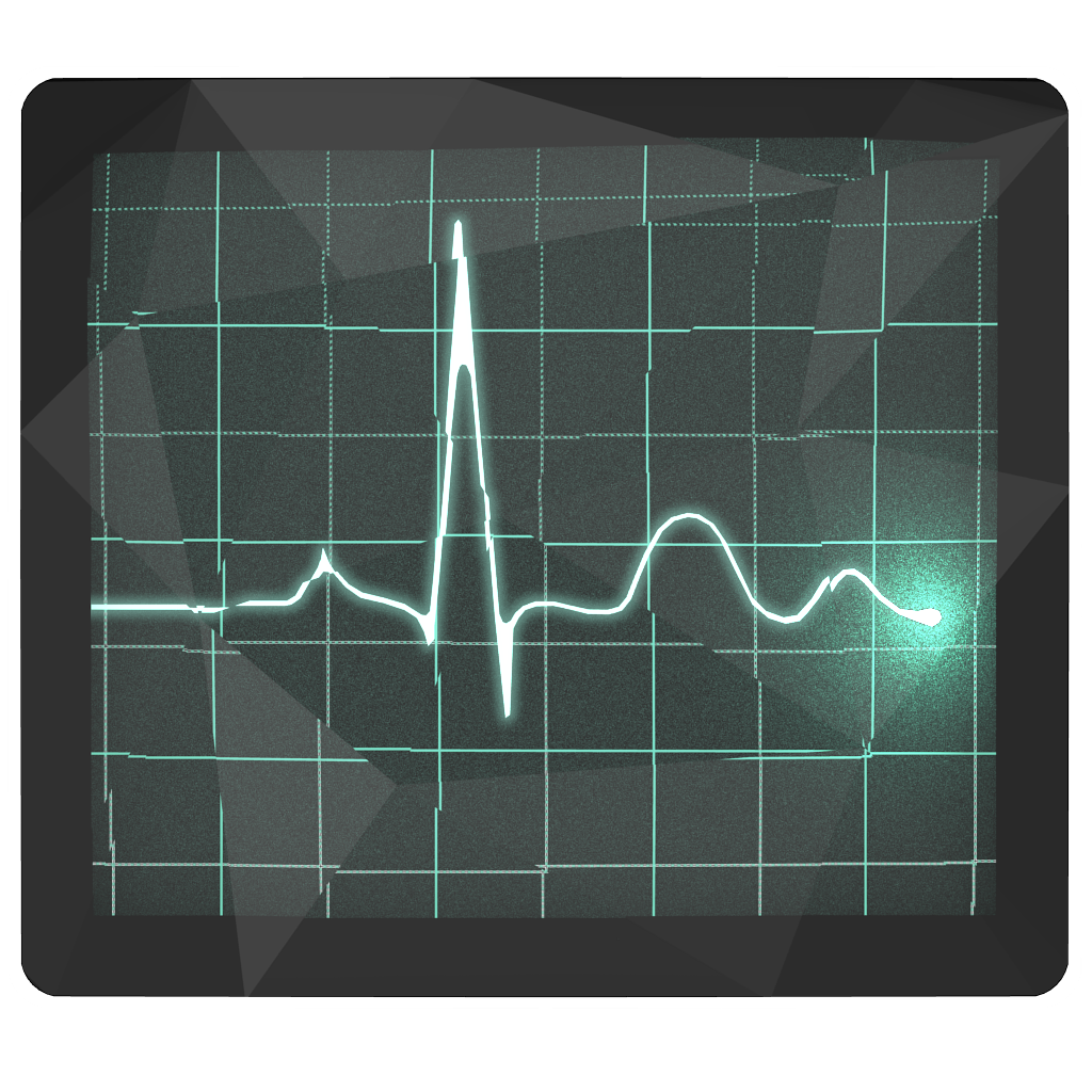 Low-Poly Activity Monitor Icon