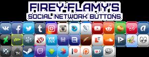 Firey-Flamy's Social Network Buttons by Firey-Flamy