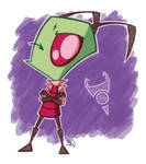 Zim-Zam Coloured Sketch by Firey-Flamy