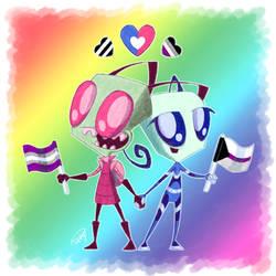 Zim X Fai - Hetero and Ace Spectrum Pride!