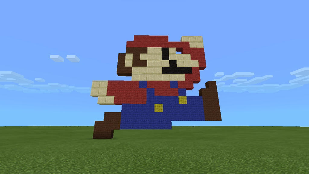 Minecraft Pixel Art 1: Mario By Thebomb41285 ...
