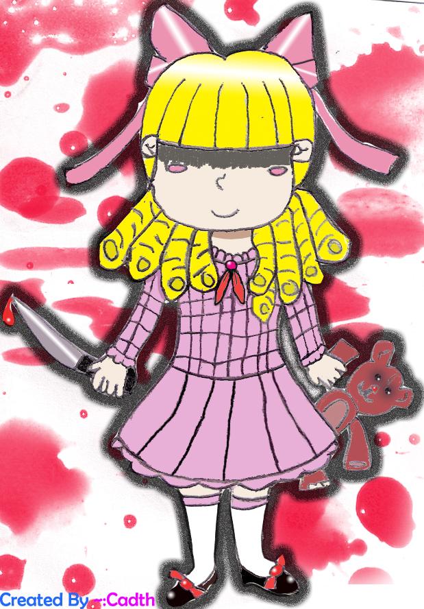 Killer Dolly With Teddy Bear by cadth on DeviantArt