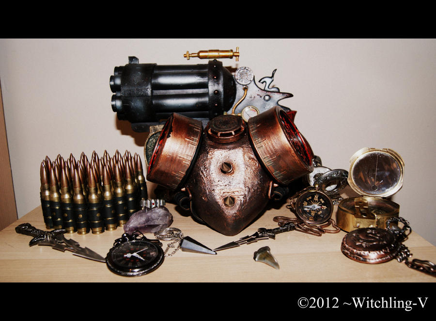Pocket Watches, Compass and other useful things by Witchling-V