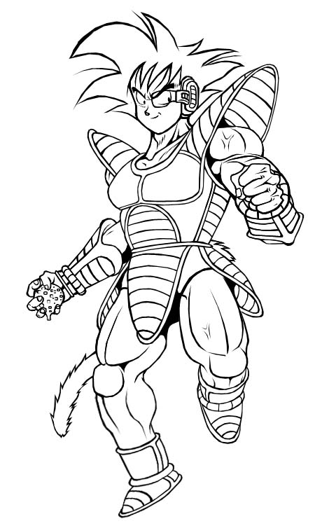 Dragon Ball Z Bardock Para Colorear