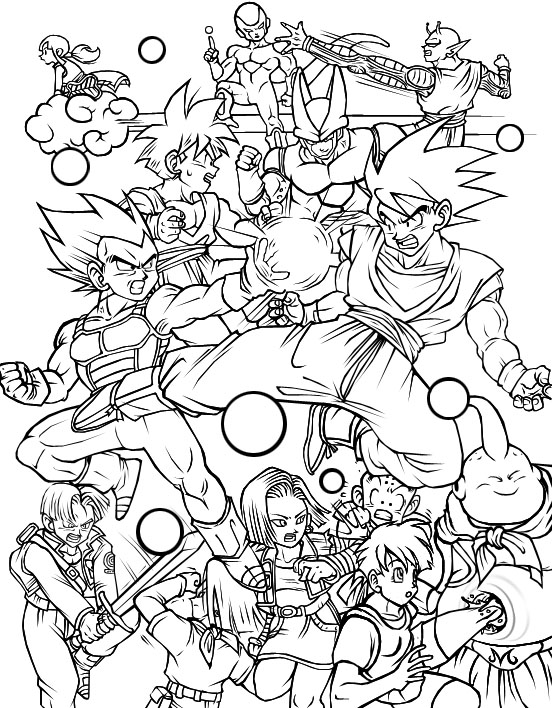 top super dragonball z inked by with dragon ball z kai coloring pages