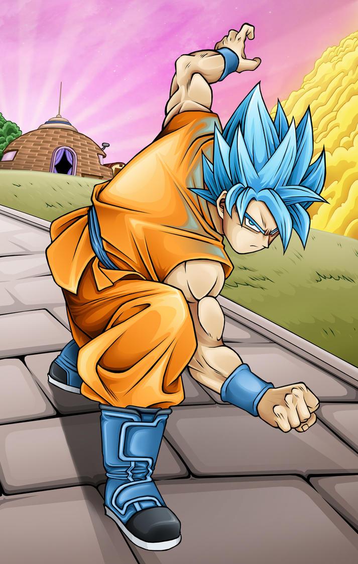Dragon Ball Super - Super Saiyan Blue Goku by TimothyJamesF