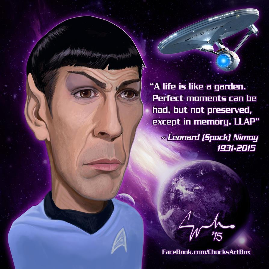 Leonard Spock Nimoy Caricature LLAP by ChuckMullins