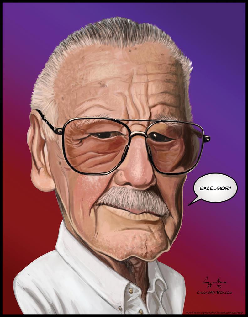 Stan Lee Caricature Marvel Comics by ChuckMullins