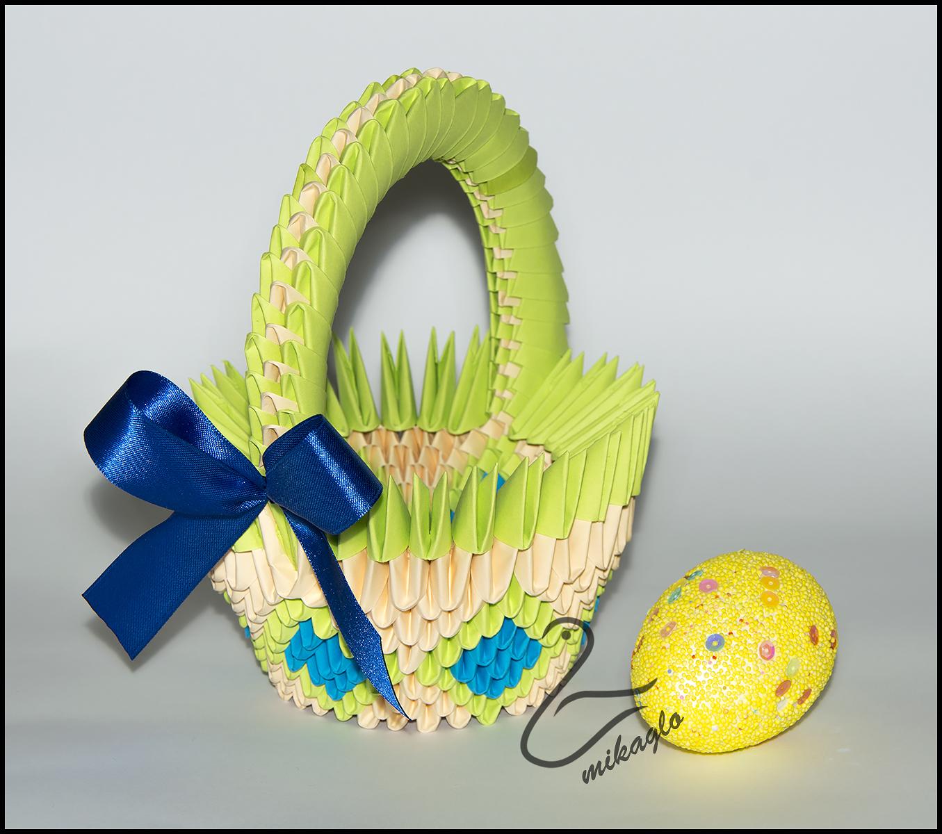 3d origami flower basket tutorial | 3d origami anleitung ... | 1200x1355