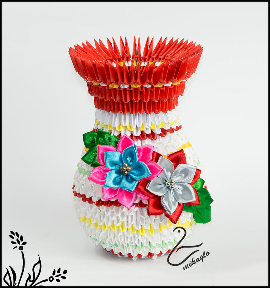Mikaglo origami 3d vase by majka16g on deviantart mikaglo origami 3d vase by majka16g reviewsmspy