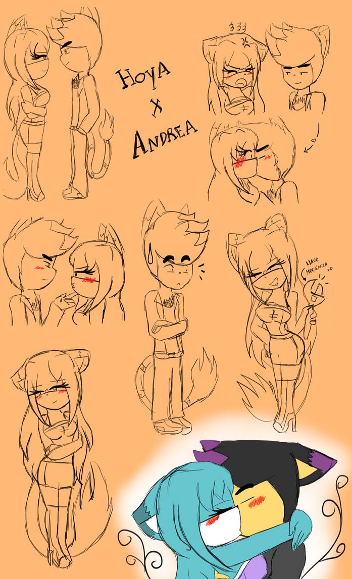 Doodles AndreaxHoya by NanaMariana22