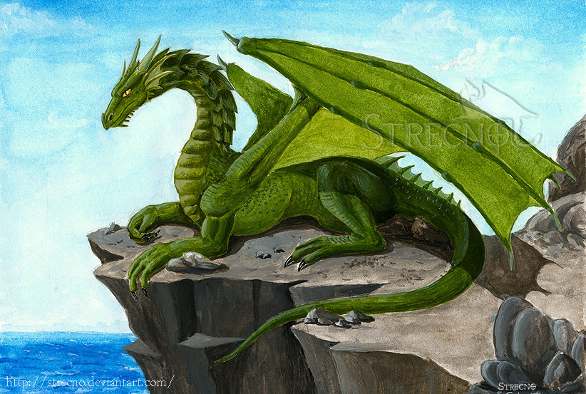 Green Dragon By Strecno On Deviantart