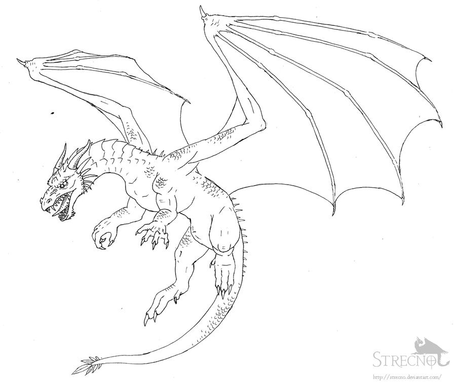 Dragon Flying And Breathing Fire Drawing | www.imgkid.com ...