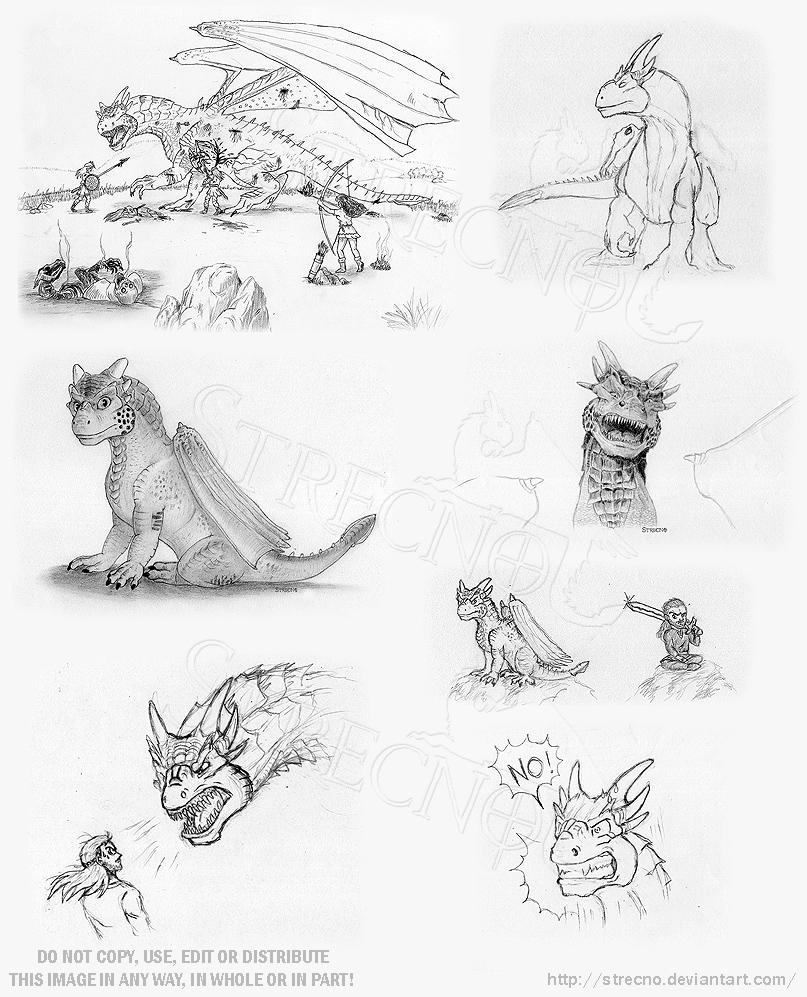 Dragonheart doodles 2003 by Strecno