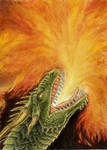 Fire Breathing Dragon ACEO