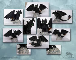 Toothless sculpture 2 by Strecno