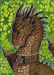 ACEO The Celtic Dragon