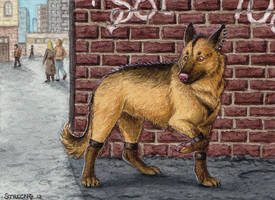 ACEO for AxMongrel by Strecno