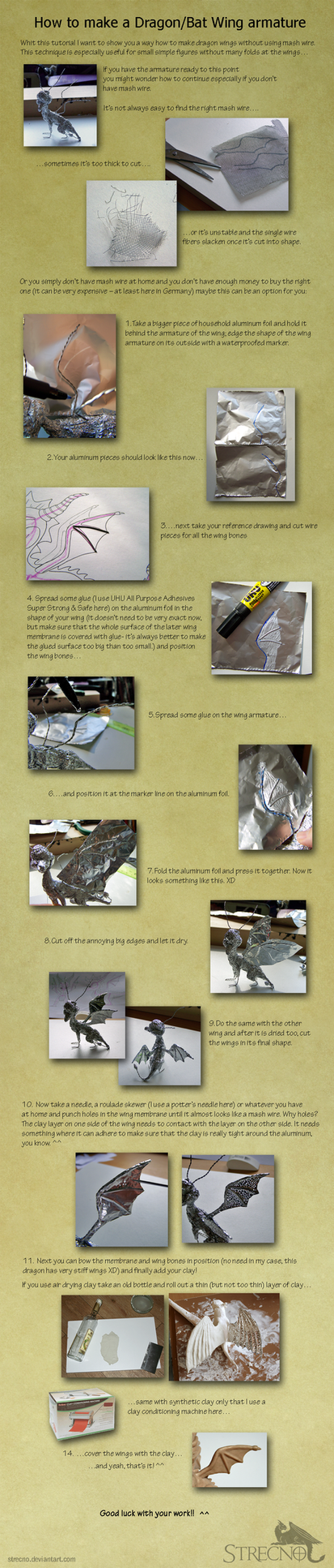 How to make a simple Dragon wing armature by Strecno
